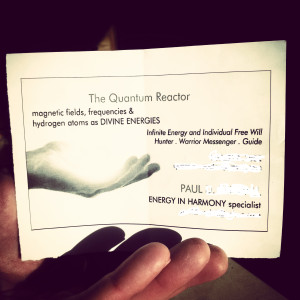 "Paul's ""business"" card."